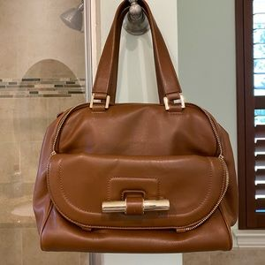 Authentic Jimmy Choo Justine Bag, camel